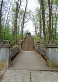 Monte de Pelerin - Maria Radna Franciscan Monastery - Lipova, Arad, Romênia fotografia de stock