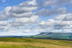 Monte de Pendle, Lancashire Fotos de Stock Royalty Free