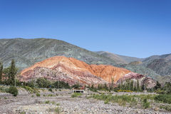 Monte de sete cores em Jujuy, Argentina Fotografia de Stock Royalty Free