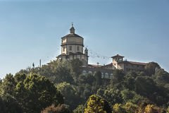 Monte dei Cappuccini在都灵,意大利 免版税图库摄影