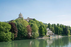 Monte dei Cappuccini and the Po river, Turin, Italy royalty free stock photos