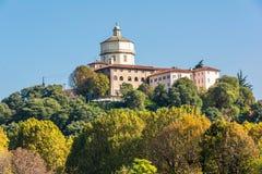 Monte dei Cappuccini w Turyn, Włochy fotografia royalty free