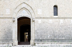 Monte dei paschi at the Salimbeni Palace, Siena, Tuscany Italy Royalty Free Stock Photography