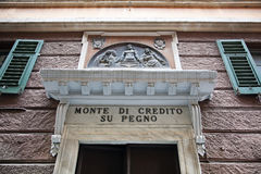 Monte di Piet�à in Savona, Italy Royalty Free Stock Photography