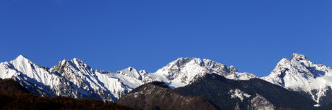 Monte Disgrazia In The Italian Alps Royalty Free Stock Photography