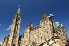Monte do parlamento de Canadá Foto de Stock