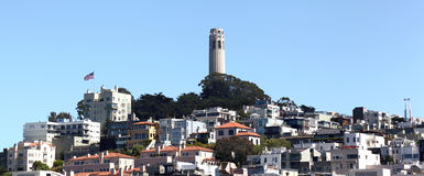 Monte do telégrafo, San Francisco imagem de stock