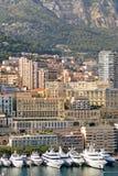 monte du Monaco de marina de Carlo Images stock