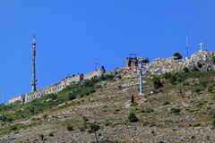 Monte Dubrovnik de Srdj imagem de stock