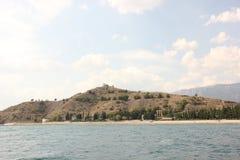 Monte e mar Fotografia de Stock
