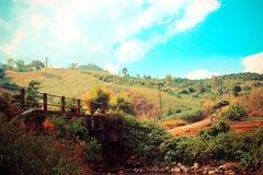 Monte e ponte Imagem de Stock Royalty Free