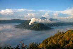 Monte el volcán de Bromo del punto de vista en el soporte Penanjakan Imagen de archivo
