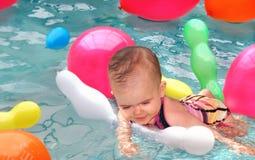 monte en ballon l'eau d'amusement Photos stock