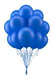 Monte en ballon le bleu Photo libre de droits