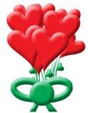 monte en ballon le coeur de bouquet Images libres de droits