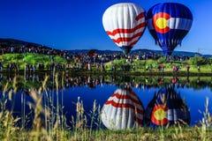 Monte en ballon un flotteur Photographie stock