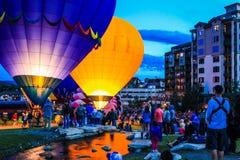 Monte en ballon un flotteur Image libre de droits
