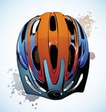 Monte en bicicleta el casco Foto de archivo libre de regalías