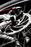 Monte en bicicleta el freno de disco Imágenes de archivo libres de regalías