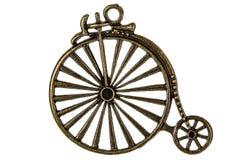 Monte en bicicleta, elemento decorativo para el trabajo manual, aislado en b blanco fotografía de archivo