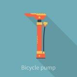Monte en bicicleta la bomba de aire Imagenes de archivo