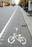 Monte en bicicleta la muestra de la ruta Fotos de archivo