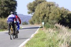 Monte en bicicleta la ruta Fotografía de archivo