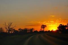 Monte en la puesta del sol Fotografía de archivo libre de regalías