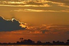 Monte en la puesta del sol Foto de archivo libre de regalías