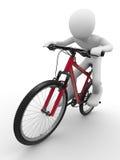 Monte ese concepto de la bici libre illustration