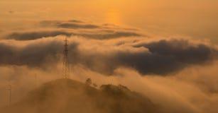 Monte Faito dropp royaltyfri fotografi
