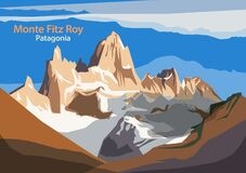 Monte Fitz Roy Is A Mountain In Patagonia, On The Border Between Argentina And Chile Royalty Free Stock Images