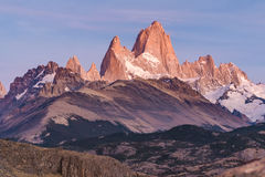 Monte Fitz Roy, Patagonië - Argentinië Stock Afbeelding