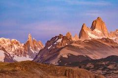 Monte Fitz Roy, Patagonië - Argentinië Stock Foto's