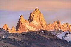 Monte Fitz Roy, Patagonië - Argentinië Royalty-vrije Stock Afbeeldingen