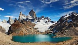 Monte Fitz Roy, Patagonia, Argentina Imagem de Stock Royalty Free