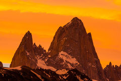 Monte Fitz Roy Stock Images