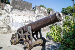 Monte Fort cannon and fortified walls Macau Royalty Free Stock Photos