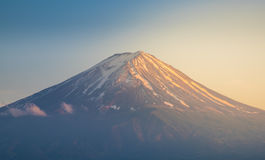 Monte Fuji no por do sol Imagem de Stock
