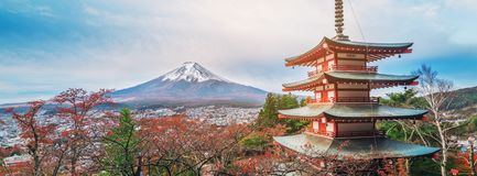 Monte Fuji, pagode de Chureito no outono fotos de stock