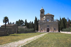 Monte Giove偏僻寺院在法诺-意大利 库存照片