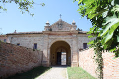 Monte Giove Hermitage in Fano - Italy. Entrance of 'hermitage Royalty Free Stock Photo