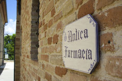 Monte Giove Hermitage  in Fano  - Italy. The Old Pharmacy Royalty Free Stock Image