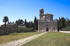 Monte Giove Hermitage i Fano - Italien Arkivfoton