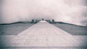 Monte Grappa Sanctuary, memorial para soldados de WWI, intenção do b&w imagens de stock royalty free