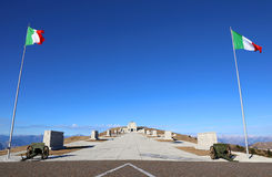 Monte Grappa (TV) Italien 8th December 2015 Militär minnesmärke mo Arkivbilder