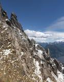 Monte Grona Mountainside med sjön Como, Italien Royaltyfri Fotografi