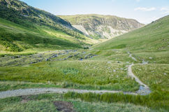 Monte Helvellyn, 950 medidores de altura acima do lago Ullswater fotografia de stock royalty free