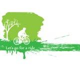 Monte la bici Imagen de archivo libre de regalías