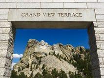 Monte la entrada de Rushmore. imágenes de archivo libres de regalías